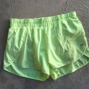 GAP neon running athletic workout shorts